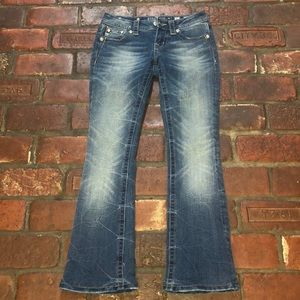Miss Me Signature-Rise Bootcut Jeans